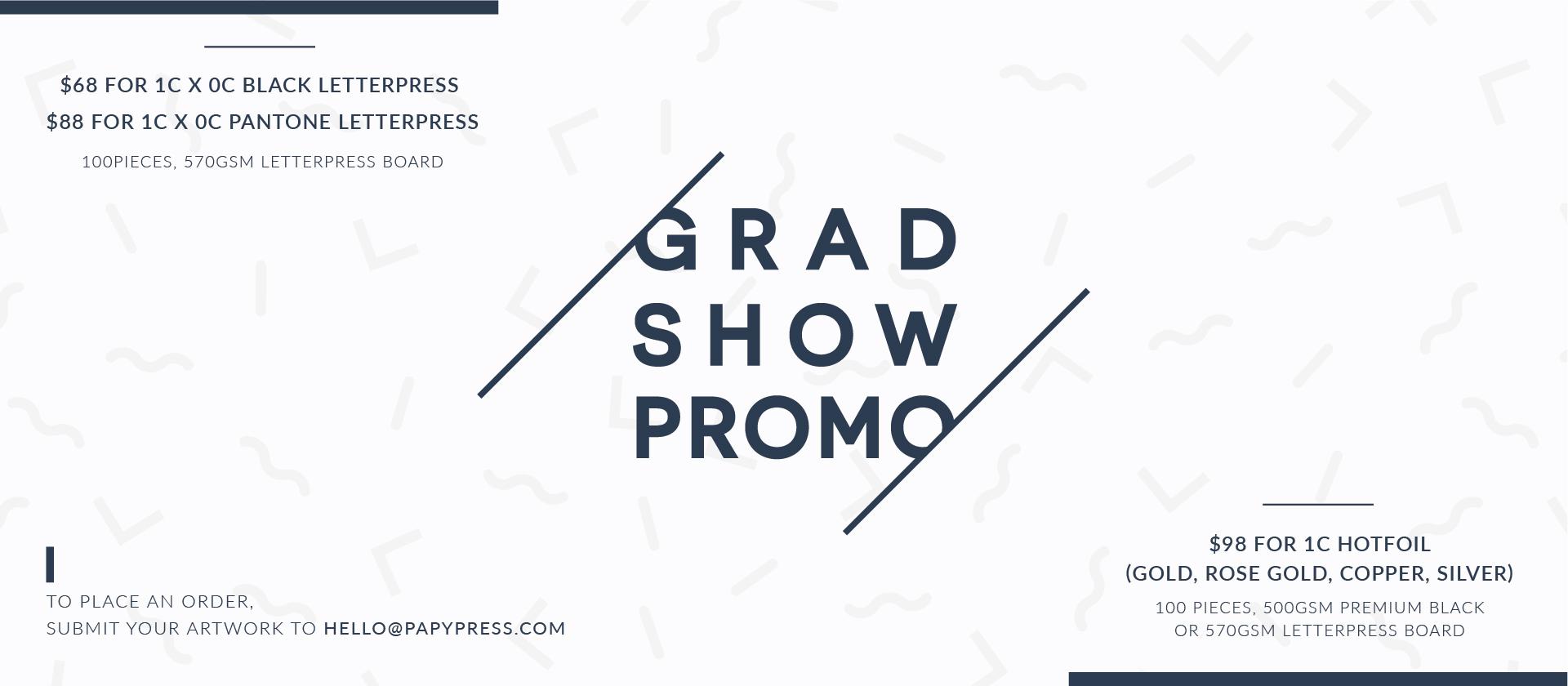 Grad Show Promo