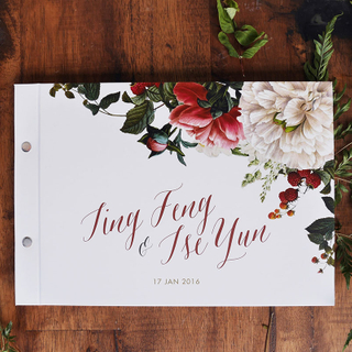 Personalised Wedding Guestbook - Rustic Botanicals