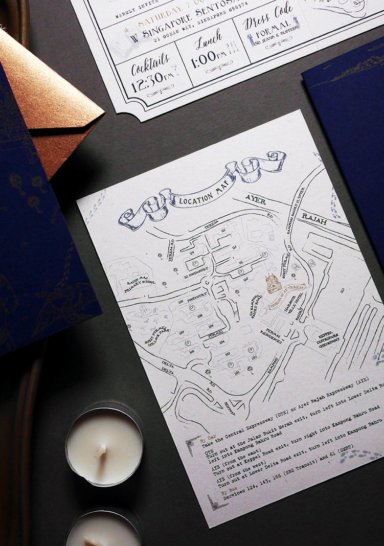 Harry Potter Inspired Wedding Invtation | Papypress