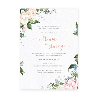 Petite Pastels - English Invite