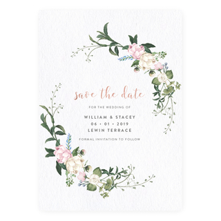 Petite Pastels - Save the Date with Rose Gold Foil