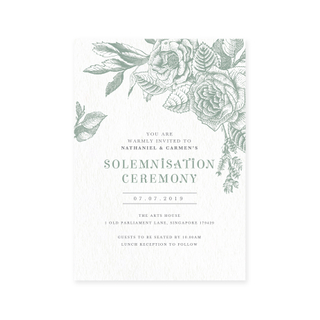 Woodland Wonder - Solemnisation Invite