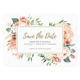 Paradise Blooms - Save The Date