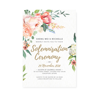 Paradise Blooms - Solemnisation Invite