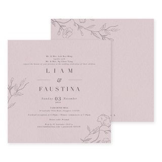 Wispy Florals - English Invite