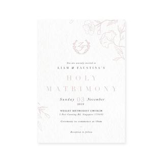 Wispy Florals - Solemnisation Invite
