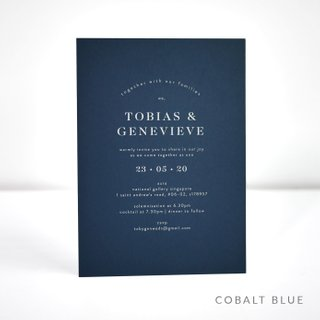 Classic White Ink Wedding Invitation
