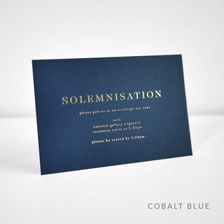 Classic Gold Foil Solemnisation Card