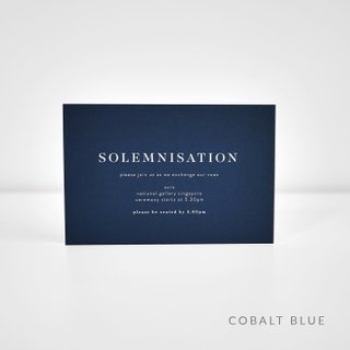 Classic White Ink Solemnisation Card
