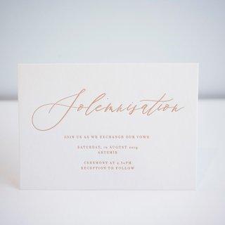 La Moderna Calligraphy Letterpress Solemnisation Card