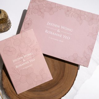 Personalised Wedding Guestbook - Dusty Pink Orchid