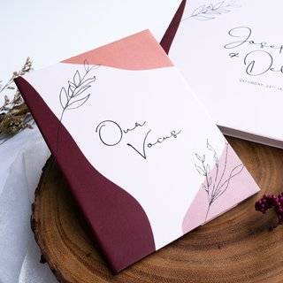 Personalised Vow Book - Modern Abstract