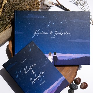 Personalised Wedding Guestbook - Starry Night Sky