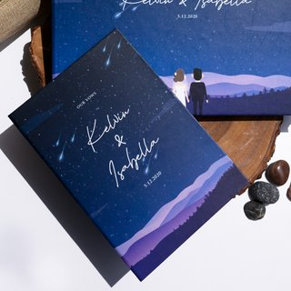 Personalised Vow Book - Starry Night Sky