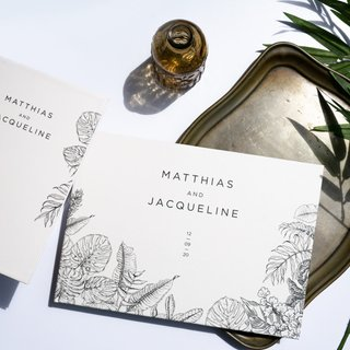 Personalised Wedding Guestbook - Tropical Sketch