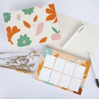 Weekly Planner - Peachy Poppy